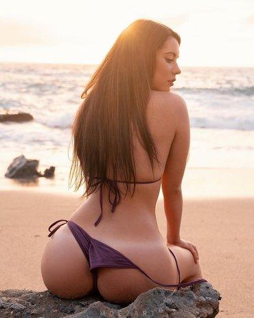 пляж в середине января