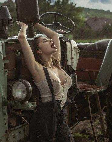 в гостях у тракториста